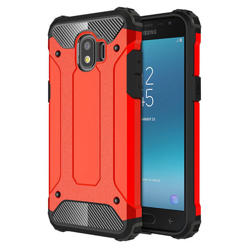 Red Military Defender Shockproof Case - Samsung Galaxy J2 Pro (2018)